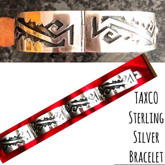 Taxco Jewelry - Sterling Silver Bracelet Signed by Artist TAXCO